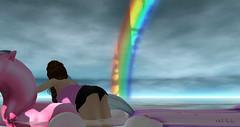 Rainbow with no rain :-) (Leonorah Beverly) Tags: secondlife jerseyshore