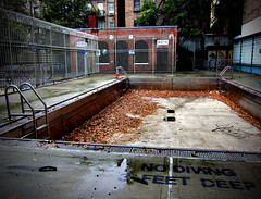 (Goggla) Tags: new york nyc pool rain playground swimming empty soho vesuvio goglog