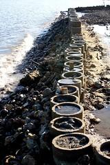 Beach Wall (noirvane) Tags: beach wall indonesia concrete shore balikpapan
