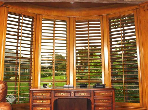 window shutters, wood shutters by The Louver Shop Custom