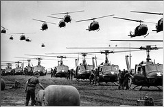 U.S. Army helicopters 1966 (Peer Into The Past) Tags: blackandwhite history vintage photography 1966 helicopters saigon usarmy vietnamwar