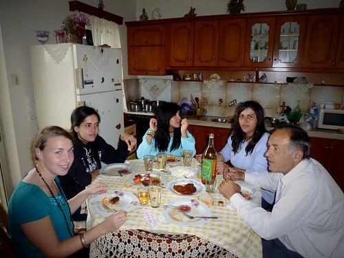 Repas de famille, Kardamas, Grèce