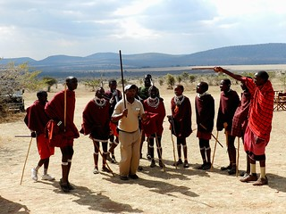 The head chef at camp in the Eastern Serengeti joins the Maasai
