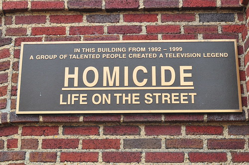 Homicide Life on The Street plaque