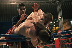 .. (Samuel John Roberts) Tags: blue red sport corner thailand fight referee mixed martial bangkok arts ring thai ambient match ropes boxing fighters muay