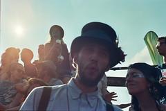 Shambala - Sun -The Flying Dutchman (bajan me) Tags: film happy kodak 400 pirate tophat bliss discoball portra yashica pendant flyingdutchman shambala fx3 2013 beardedkitten bajanme