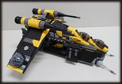 Gunship Yellow Black (Johnny-boi) Tags: shadow cinema trooper yellow battle palace walker legos custom legostarwars hoth gunship minifigure atap