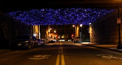 it's full of stars (014/365) (Tim Pierce) Tags: boston massachusetts 365 fortpointchannel blueled seaportdistrict astreetunderpass