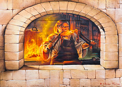 le Forgeron du village... (Olivier Thirion) Tags: streetart savoie forgeron ugine nikond3 thirionolivier olivierthirion nikon24120f4 leforgeronduvillage leforgerondugine 2014olivierthirionallrightsreserved