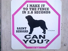 can you? (trapez) Tags: dog sign warning beware schild hund warnung