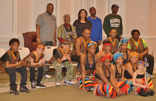 The Sankofa dance troop entertained over 60 guests with dance, dance origins, African history and tradition.