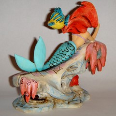The Little Mermaid on a Rock Figurine (2013) - Jim Shore Disney Traditions - First Look - Full Right Rear View (drj1828) Tags: ariel stone us amazon sebastian resin mermaid figurine purchase flounder jimshore enesco dreamingunderthesea disneytraditions
