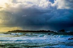 ile  d'yorc'h (fubu.flemm) Tags: sea storm france rain landscape island brittany wave bretagne argenton