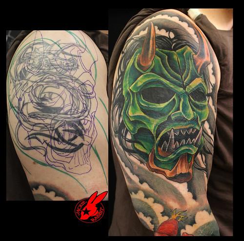 Japanese Rabbit Tattoo up Tattoo by Jackie Rabbit