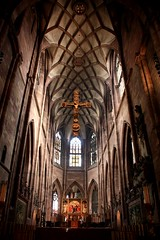 Freiburger Mnster (Hulalena) Tags: church cross altar freiburg minster mnster altair