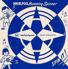 Whirlpool Humming Spinner (Alan Mays) Tags: old blue girls music white geometric boys vintage ads paper advertising children stars toys typography notes circles wheels illustrations ephemera cardboard whirlpool round spinning type 1960s advertisements fonts printed logos humming rca circular appliances spinners typefaces buzzers whirling musicalnotes buzzing hummers papertoys whirligigs whirring promotionalproducts diecuts homeappliances spinit promotionalgiveaways whirlpoolcorp giveawys prepunched advertisinggiveaways buttonbuzzers whirlpoolhummingspinner hummingspinner