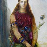 MOREAU Gustave - Hélène sur les Murs de Troie (drawings, dessin, disegno-Louvre RF32135) - Detail 04 thumbnail