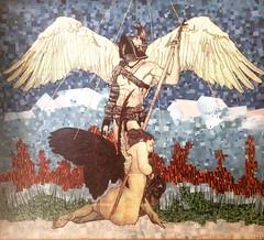 San Michele (ANTONIOM.) Tags: artdeco arcangelo sanmichele colours newspapers handmade design arte mosaico collage