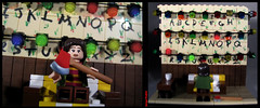 Stranger Things - Lego Wall (-iacopo / Minifigures / Custom-) Tags: strangerthings stranger things will run axe joyce luke dustin eleven imc custom legocustom minifig minifigcustom season1 season2 italy iacopo profeti toy sculpt sculpey moc afol winona ryder demogorgone demogorgon lights willrun legostrangerthings upsidedown