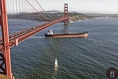 Golden Gate Bridge (randyandy101) Tags: goldengatebridge sailboat tanker cargo ship california pacificocean sanfrancisco