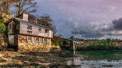 The Boat House (Einir Wyn Leigh) Tags: house boathouse bridge landscape seascape water estuary wales anglesey outdoors march storm contrast colour natural nature
