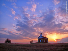 Arvonia Church at Sunset, 20 Feb 2016 (photography.by.ROEVER) Tags: arvonia kansas usa 2016 february roadtrip february2016 arvoniachurch osagecounty