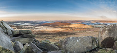 Higger Tor Dawn pano (marc_leach) Tags: landscape peakdistrict darkpeak dawn sunrise sun view rocks trees higgertor nikon panorama