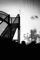 End of the shift (newshot.) Tags: vignette silhouette nikon d700 zeiss planart1450 zf2 general srps boness scotland steam railway locomotive dusk trail black grain atmosphere composition monoretreads