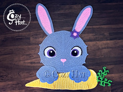 Bella the Bunny Rug Crochet Pattern by Cozy Hat #bunny #rabbit #bunnies #crochetpattern #crochet #pattern #easterbunny #easter (Anastasia wiley) Tags: bunny rug crochet pattern cozyhat cozy hat anastasia wiley kids room decor nursery baby shower gift raverly easter