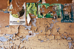 60 Jahre UdSSR (franconiangirl) Tags: brigittebardot chemicalfactory factory abandoned chemicalplant chemiewerke chemiefabrik verfall decay derelict poster verlassen ehemalig industrie industry urbex ue urbanexploring vergessen udssr cccp