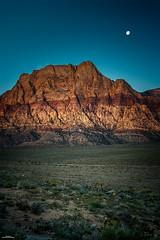 Moon Over Rainbow Mountain (59roadking - Jim Johnston) Tags: ifttt 500px sky sunrise mountains travel night moon desert las vegas nevada clark red rock canyon
