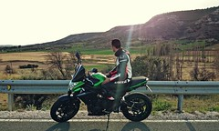 DSC_0032_si (David26FM) Tags: kawasaki er6n gpr full exhaust dainese veloster route road bike beautiful speed naked puig 2015 green nice fast