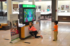 Little kids playing games at the mall (radargeek) Tags: okc oklahomacity mall pennsquaremall winter january 2017 videogames