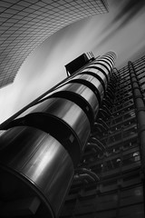 Ascent (Illogical_images) Tags: sony a7r architecture london city high black bw blackandwhite mono longexposure dark downtown vertical art