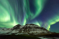Sky Silk (MRC Imagery) Tags: auroraborealis aurora northernlights kirkjufell iceland ice snow winter cold 1635mm landscape mountain mountains mountainside weather 5dmk3 night nightsky nightscape stars
