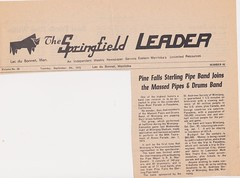 Stirling Pipe Band Pine Falls Newspaper Articles-9 (Hugh Peden) Tags: stirling pipe band pine falls manitoba major william bill macleod