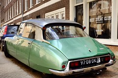 Beef Steak Club (geedub611) Tags: nederland meat green netherlands amsterdam streetscene club classiccar car ds citroen