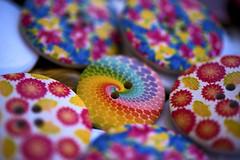 Liberty style buttons (jonnyamerica) Tags: bottoni buttons mercato market color spirale red yellow blue roma rome genzanodiroma