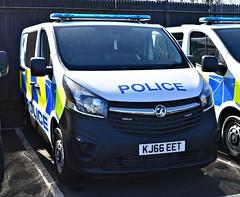 KJ66EET (Cobalt271) Tags: kj66eet new northumbria police vauxhall vivaro 16 cdti 2900 biturbo ecoflex van proud to protect
