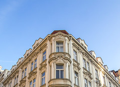 Supersymmetry (EmpIoia) Tags: symmetry sky clouds prague czech republic czechy windows building architecture