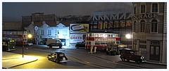 Late night at Black Cat Junction (kingsway john) Tags: kingsway models 176 scale oogauge model tram tramway layout london transport miniature