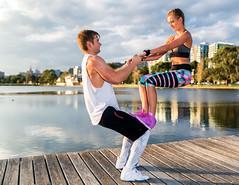 Fitness-Shoot--001-6 (keithob1 Over 1.5 Million views - Thank you) Tags: fitness models man woman balance lake