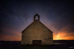 Hunting Welsh Dragons (Geoff Moore UK) Tags: anglesea nightscape astro landscape church milkyway stars adventure night dark water tidal island outdoors hiking exploration rocky sea salt air
