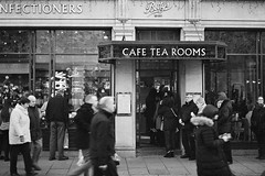 Betty's (Matthew-King) Tags: black white monochrome ilford xp2 35mm film nikon f60 analog york bettys tea rooms