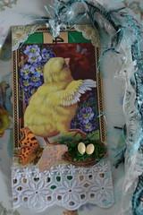 Easter wishes (alteredmoments) Tags: easter eastertag journaltag collage mixedmedia moments alteredmoments vinatge vintageimage bingocard vintageephemera