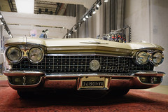 Glamour (Мaistora) Tags: car vehicle wheels vintage retro antique classic collectable grille headlights chrome fender bumper shinypolished mirror gold golden badge sign logo plate registration shop store fashion luxury apparel metal american italy milan milano elegance style cadillac eldorado