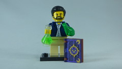 Brick Yourself Bespoke Custom Lego Figure Scientist and Magic Book