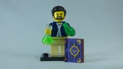 Brick Yourself Bespoke Custom Lego Figure Scientist and Magic Book