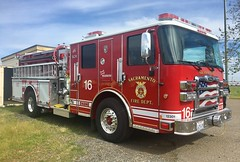 SFD E-16 (trifeman) Tags: 2017 march california sacramento mather pierce iphone engine fire e16 meadowview