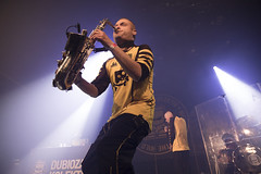 Amsterdam, The Netherlands  -16 April 2017: concert of Bosnian rock music band Dubioza Kolektiv at venue Melkweg -13 (CloudMineAmsterdam) Tags: dubiozakolektivmelkwegamsterdam amsterdam artists band concert concertlights crowd editorial electricguitar entertainment europe event gathering rock dub leisure lights loud music musician netherlands holland party people performance show singer vocals cheering audience happysmile fun hiphopreggae stage